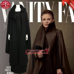 ManLuYunXiao Star Wars 8 Princess Leia Cosplay Costume Black Dress Halloween Cosplay Costume