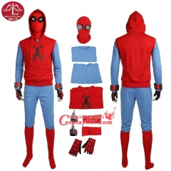ManLuYunXiao Spider-Man Homecoming Peter Cosplay costume Superhero Halloween customized full set