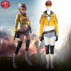 Final Fantasy XV Cindy Aurum Cosplay Costume Mechanic Jacket Hat Boots Any Size