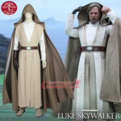 Adult Star Wars The Last Jedi Luke Skywalker  Cosplay Costume Custom Made full set COS