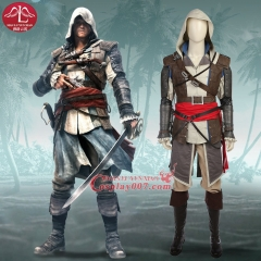 ManLuYunXiao Game Assassin's Creed IV Black Flag - Edward Kenway Adult cosplay Costume full set