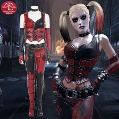 ManLuYunXiao Batman Arkham City Harley Quinn Cosplay Costume Halloween Leather Full Suit