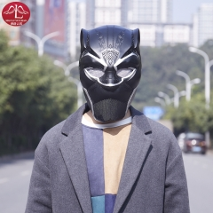 MANLUYUNXIAO New Arrival Men Full Face Black Panther Cosplay Mask Men's PVC Party Mask for Halloween