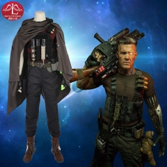 MANLUYUNXIAO Deadpool 2 Superhero Cable Cosplay Costume full set Deadpool Costume for Men Custom Made.