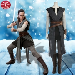 MANLUYUNXIAO Star wars The last Jedi Rey Cosplay Costume Female Comic con Custom Made