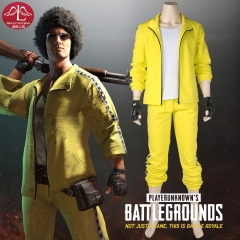 MANLUYUNXIAO PUBG PlayerUnknown's Battlegrounds yellow suits men's leisure style cosplay costume full set custom made
