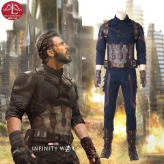 MANLUYUNXIAO Avengers Infinity War Captain America high quality cosplay costume for comic con outfits for adult men custom made