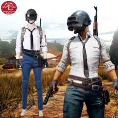 PUBG PlayerUnknown's Battlegrounds white shirt high quality uniform cosplay costume for adult men Manluyunxiao