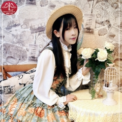 Classical Lolita cottony dress billowing skirts with flouncing  high quality casual dress Manluyunxiao
