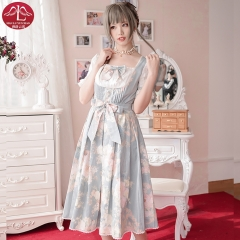 Classical Lolita dress Marie Versailles OP lace and cottony costume for adult women Manluyunxaio