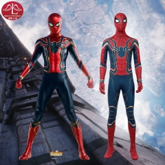 2018 Marvel Avengers Infinity war spider man Peter cosplay costume  outfits for adult men Halloween costume Manluyunxiao