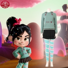 Ralph Breaks the Internet Wreck It Ralph 2 Vanellope von Schweetz cosplay costume  Disney costume customize Manluyunxiao