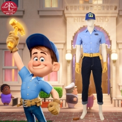 Ralph Breaks the Internet Wreck-It Ralph 2 Fix-It Felix Jr high quality cosplay costume Disney costume customize Manluyunxiao