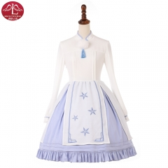 Original sweet Lolita Dress white color Chinese embroidered chiffon dress Manluyunxiao