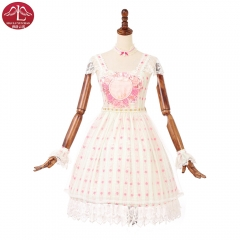 Original sweet Lolita chiffon dress rose flower printing OP dress Manluyunxiao