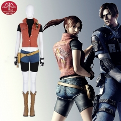 Hot game Resident Evil 7 Biohazard Claire Redfield cosplay costume  customize game costume Manluyunxiao