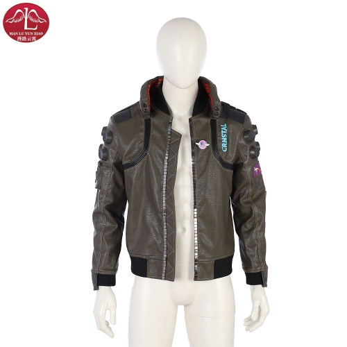 Cyberpunk 2077 man jacket customize video game replica coat Manluyunxiao