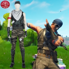 Fortnite male commando cosplay costume  man role game costume Manluyunxiao