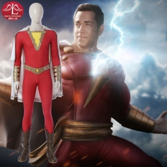 Shazam Billy Batson cosplay costume DC comics superhero costume for Halloween Manluyunxiao