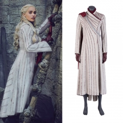 Game of Thrones 8 Daenerys Targaryen cosplay outfit(red cloak)