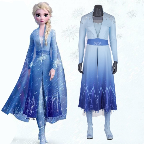 《Frozen 2》Elsa Disney Princess Cosplay Costume for Girls Pre-order