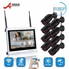 High Quality 8 Ch HD outdoor 1080P Wifi NVR Kit CCTV Kit 2mp bullet Wireless Home Security Camera System