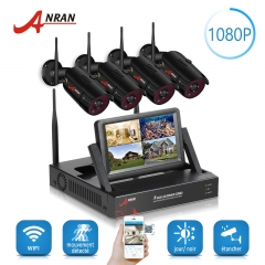 ANRAN Wifi NVR Kit CCTV Security Systems Wireless outdoor 4CH NVR Kit 1080P WIFI IP Camera with P2P