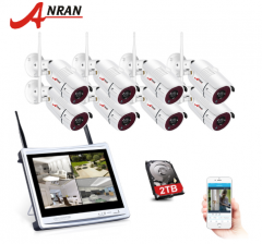 ANRAN 8CH Wireless Surveillance Camera System 1080P HD IP Outdoor Night Vision CCTV Security Camera System With 2TB Hard Drive