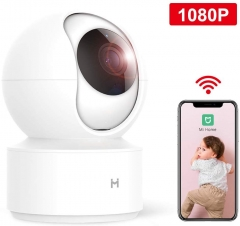 xiaomi Wireless IP Home Security Camera,1080P Surveillance Smart Mi Camera with Two-Way Audio,2.4Ghz WiFi Indoor Dome Camera for Pet Baby Elder Monito