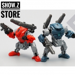 MechFansToys MFT Lost Planet Powered-suit DA02 Red & DA03 Blue Diaclone