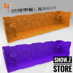 Wild Kids Display Bases 10 Pieces & 2 Robotic Arms & 18 Connector (Orange, Purple)