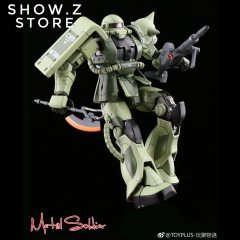 Metal Soldier 1/100 MS01 ZAKUII MS-01 MS-06 ZAKU2 Green Chogokin Metal Build
