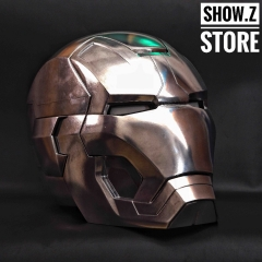 [Manual Version] [Metal Made] Cattoys 1:1 Iron Man Mark 42 Mark 43 Helmet MK42 MK43 Replica w/ LED