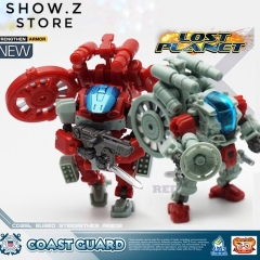 MechFansToys Mech Fans Toys MFT Lost Planet Coast Guard CG01 White Shark & CG02 Red Dragon