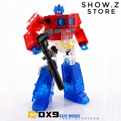 DX9 X34T Moses Optimus Prime w/ Trailer Clear Version