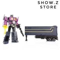 DX9 X34P Dutch Phonas Optimus Prime Shattered Glass SG w/ Trailer Purple Version