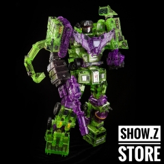 [Sample][Australia Buy Only] Toyworld TW-C07C Constructor Devastator Clear Version Full Set of 6 Figures TW-07C Clear Constructor