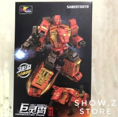 WeiJiang WJ Sky Soarer Rampage Oversized Sabertooth Combination Mode POTP Feral Rex Predaking