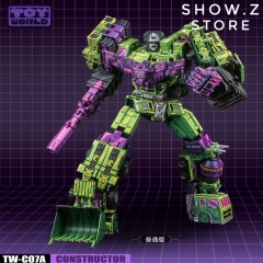 [Pre-Order] Toyworld TW TW-C07A TWC07A Constructor Devastator Cel Cell Shaded Standard Version Set of 6