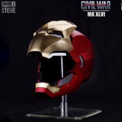 Marvel Official Iron Man MK46 MK-46 Helmet 1/1 Lifesize Metal Brushed Version