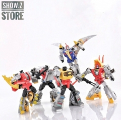 [Pre-Order] DX9 Toys War in Pocket Dinobots Set of 5 (X18 Bumper, X19 Quaker, X20 Skyer, X21 Thorner, X22 Rager)