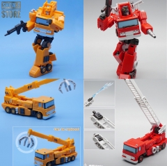[Pre-Order] MechFansToys Mech Fans Toys MFT MF-45 MF45 Fire Engine Inferno & MF-46 MF46 Crane Grapple Set of 2