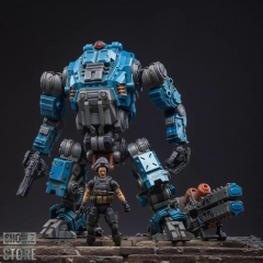 [Pre-Order] JoyToy Source Acid Rain 1/18 Freeman Machine Armor w/ Pilot Mechas & Soldiers Figure Set Navy Blue Version