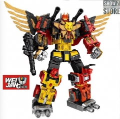WeiJiang Wei Jiang WJ Complete Set of 5 Sky Soarer Rampage Oversized Combination Mode POTP Feral Rex Predaking