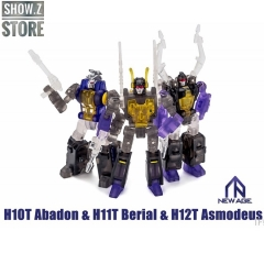 [Pre-Order] NewAge New Age NA H-10T H10T Abadon Kickback H-11T H11T Berial Shrapnel H-12T H12T Asmodeus Bombshell Insecticons Set of 3 Clear Version