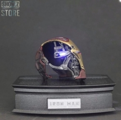 X-Space Xspace Studio 1/6 Iron Man MK50 Mark 50 Battle Damaged Helmet /w LED