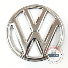 VW EMBLEM FRONT 250mm 4 PRONG BUS 68-72 Stainless Steel VOLKSWAGEN TYPE2 Kombi