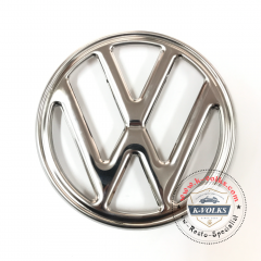 VW LOGO EMBLEM FRONT Bay Window Stainless Steel TYPE 2 BUS 1972-1979 Volkswagen