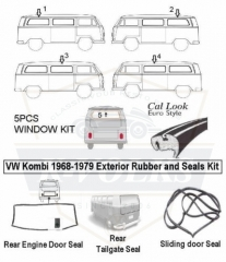 Rubber Seals Kit fits Type 2 Bus Bay Window 968-1979