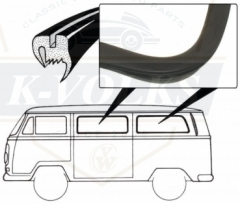 Rubber Seals for Side Window (Middle/Side) Baywindow 1968-1979